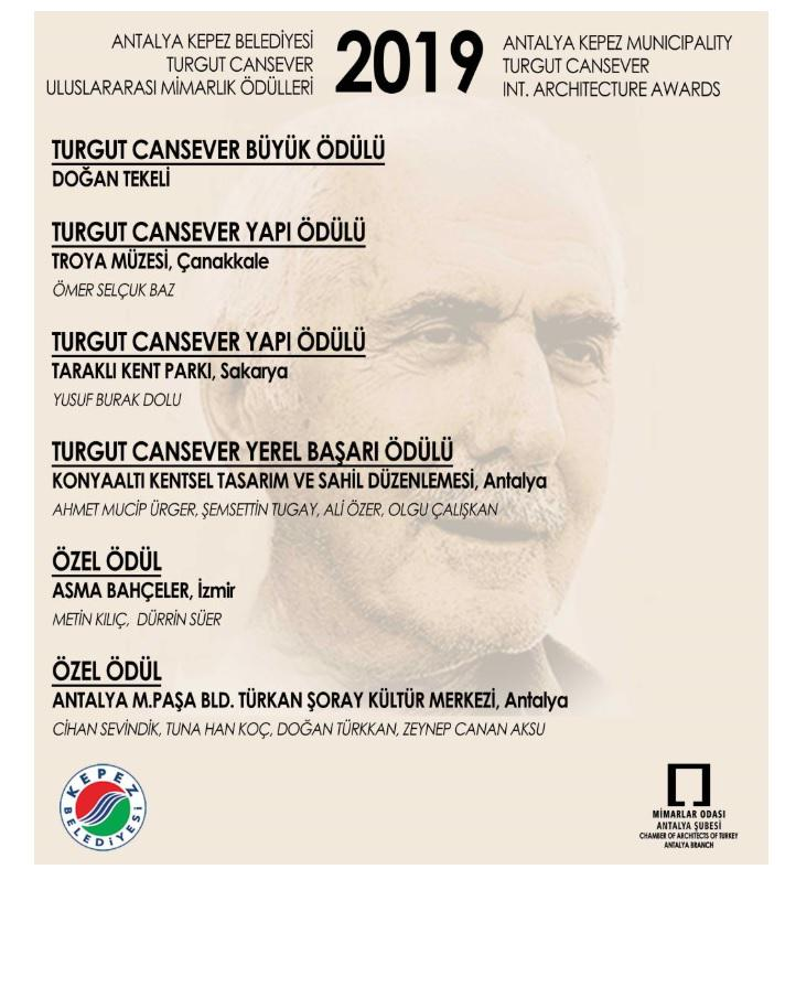 We have won the 'Local Achievement Award' in 2019 Turgut Cansever
